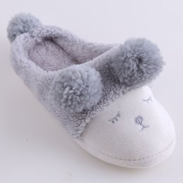 Black sheep flats shoes online shopping - Women Winter Home Slippers Cartoon Sheep Shoes Non slip Soft Winter Warm House Slippers Indoor Bedroom Female Floor