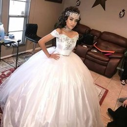 $enCountryForm.capitalKeyWord Australia - White Quinceanera Dresses 2019 Prom Dresses Sweet 15 Ball Gown Two Pieces Tulle Beads Sequins Formal Evening Homecoming Gowns Vestidos