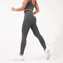 yoga pants designs 2020 - Seamless Gym Leggings Women Strip Design High Waist Tummy Control Yoga Pant Stretch Fitness Sports Pant Workout Activewe