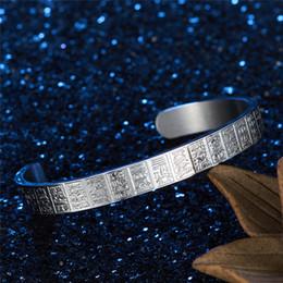 $enCountryForm.capitalKeyWord Australia - Fashion Men Lettering Bracelet Retro Titanium Steel Gold Plating Sport Bracelet Popular Outdoor Party Meeting Bracelet