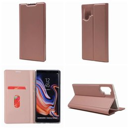 black leather slim wallet NZ - Suck Ultra thin Leather Magnetic Wallet Case For Galaxy Note 10 Pro 9 8 S10 S10e S9 Iphone XS MAX XR X 10 7 Slim Closure Holder Cover ID
