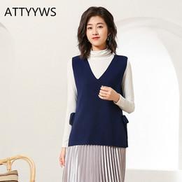 $enCountryForm.capitalKeyWord Australia - 2019 New brand ATTYYWS ladies knit sleeveless sweater V-neck vest vest fashion wild women jacket spring and autumn pullover