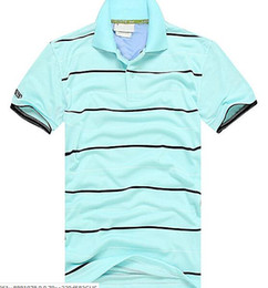 breathable sport polo shirt UK - New fashion Casual high quality Summer Hot Sale Stripe T-shirt lapel Polo Cotton Shirt Men Short Sleeve Sport Polo T-Shirt size S-3XL 328-1