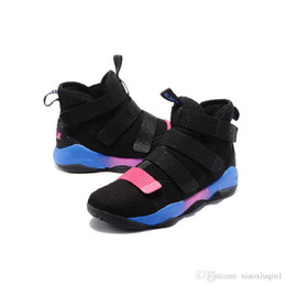 91f606a4319a Lebron soldier 11 XI shoes mens basketball for sale Christmas BHM Oreo youth  kids sneakers boots with original box Size 7 12