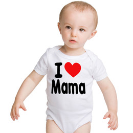 BaBies mama cartoon online shopping - I LOVE MAMA letter print Baby Girls Boy Clothes Newborn Babies Romper Cute Cartoon Print Infant Clothing baby romper bebes m