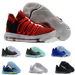 012fd2c2d8c6 Hot Sale Zoom KD 10 Anniversary PE BHM Oreo triple black Men Basketball  Shoes KD 10 Elite Low Kevin Durant Athletic Sport Sneakers