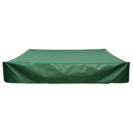 sandbox toys 2019 - Sandbox Cover, Square Dustproof Protection Sandbox Canopy with Drawstring, Square Green Garden Children'S Toys Sand