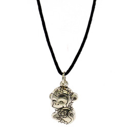 $enCountryForm.capitalKeyWord Australia - 925 silver 12 zodiac leather rope pendant female personality DIY monkey shape pure silver leather rope pendant