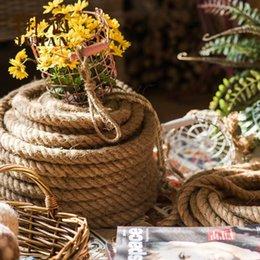 Corda di corda intrecciata naturale Corda di decorazione artigianale fai-da-te per il filo di giardinaggio fatto a mano Home Decor di spessore di imballaggio del regalo