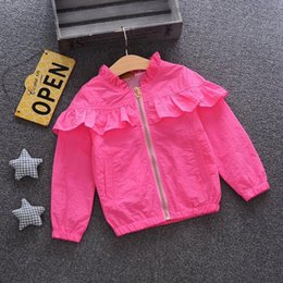 EmbroidErEd sports jackEts online shopping - quality new spring autumn girls coat print embroidered jacket spring sport clothes rashguard for girls fashion spring jacket