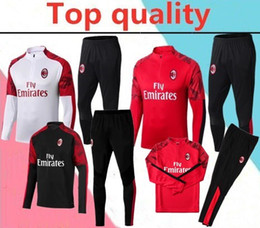 Wholesale Top quality AC Milan adult Soccer training suit survetement AC Milan HIGUAIN CALHANOGLU BONUCCI football Tracksuit