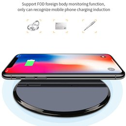Wholesale Qi Wireless Charger For iPhone XR XS Max Samsung S10 S9 Fast Charger Mirror Designer Wireless Portable Chargers