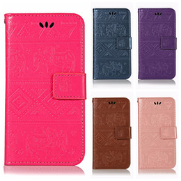 SamSung galaxy e5 flip coverS online shopping - Elephant Leather Wallet Case For Huawei P30 Pro Y9 Galaxy S10 Plus S10e Moto G7 E5 Play Imprint Slot Coque Flip Cover Animal Cartoon