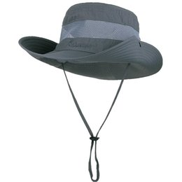 bfc1fb9e Sun Hat men Bucket Hats women Summer Fishin Cap Wide Brim UV Protection  Flap Hat Breathable mesh bone gorras Beach hat men
