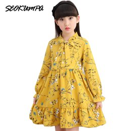 2e0b122222e Girls Dress Spring Fashion Children Clothing Kids Flower Dress Chiffon  Princess Costume Vestidos 6 8 10 12 Years Old Q190522
