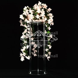 $enCountryForm.capitalKeyWord Australia - Decorative Wedding Columns Pillars Acrylic Crystal Clear Wedding Flower Stands Bouquet Decorations Centerpiece Vase Table Decoration Rack