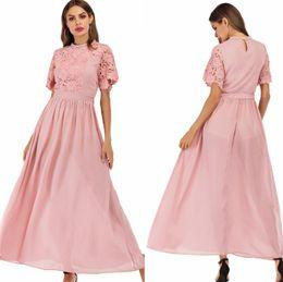 $enCountryForm.capitalKeyWord Australia - Lace Long Party Dress Women Summer vintage vadim Robe 2019 Ladies Vestidos De Fiesta O-Neck Short Fashion High Quality Dresses