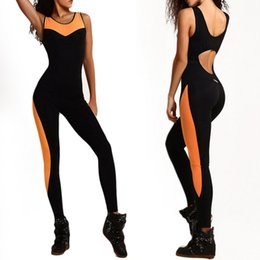Jumpsuit Sportswear Australia - Fitness Sport Suit Women Tracksuit Yoga Set Backless Gym Running Set Sportswear Leggings Tight Jumpsuits Workout Sports Clothing Y190508