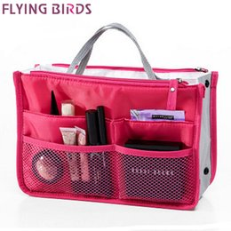 bird bag yellow NZ - FLYING BIRDS! 2016 Multifunction Makeup Organizer Bag Women Cosmetic Bags toiletry kits FASHION Travel Bags Ladies Bolsas LM2136