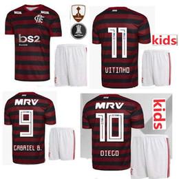 69fca9b42 KIDS KIT 19 20 flamengo Home VINICIUS JR MANCUELLO DIEGO DIEGO GUERRERO Football  uniform 2019 2020 flamenco black red child soccer jerseys