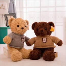 $enCountryForm.capitalKeyWord Australia - Pet bear teddy plush toy pillow for children gift girl size animal cute brown wholesale doll