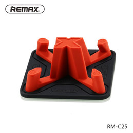 Discount remax car phone holder - Remax Car Phone Holder Soft Silicone Anti Slip Desk Holder for Smart Mobile Phone Tablet Holder Stand For iPhone xs max