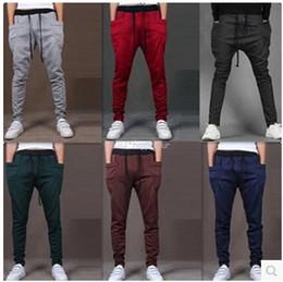 Jogging Pants Fit For Men Australia - Wholesale-New Mens Joggers Fashion Harem Pants Trousers Hip Hop Slim Fit Sweatpants Men for Jogging Dance 8 Colors sport pants M~XXL