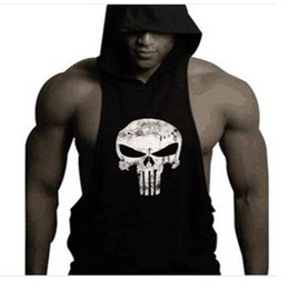 mens cotton tank tops wholesale Australia - New fashion cotton sleeveless shirts tank top men Fitness shirt mens singlet Bodybuilding workout gym Vest hoodies fitness men