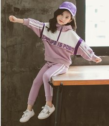 kids hot pants red Australia - NEW girls Suit stand collar Tracksuits Kids Clothing Set Hot Sell Fashion Spring Autumn Children's Long Sleeve Sweatershirt+pant two peices