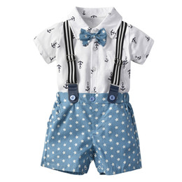 $enCountryForm.capitalKeyWord NZ - Boutique boy Designer Clothing Sets Anchor and Star Design Boy T shirt +Short boy Sets summer shirt clothing set