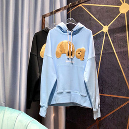 AnimAls beAr online shopping - Palm Angels Hoodie Men Women Couple Lovers Casual Cotton Palm Angels Sweatshirts Black Blue Broken Bear Palm Angels Hoodies