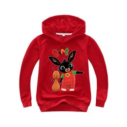 rabbit sweatshirt girl NZ - 2-16 Years Bing Rabbit Bing Baby Kids Hoodies Sweatshirts 3D Printed Hooded TShirt Big Boy Girl Shirt Pullover Shirt