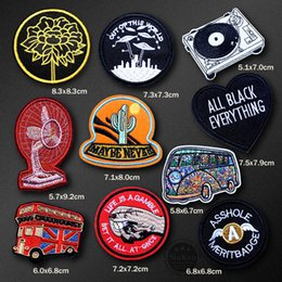 $enCountryForm.capitalKeyWord NZ - UFO Music Bus Death Monument Iron On Badges Clothe Embroidery Sew On Patch Applique Ironing Clothing Sewing Supplies Decorative