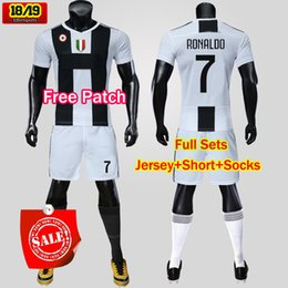 405d1e874 2018 Juventus RONALDO Soccer jersey DYBALA Men Kit Home Away Third 18 19  MANDZUKIC Adult Football Shirt uniform Full Set With Socks