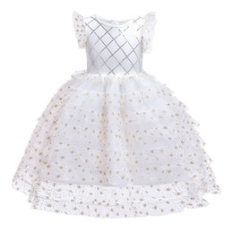 BaBy girl wedding frock online shopping - Ins New Year Baby Girl Lace TUTU Dresses Christmas Kid Prom Bridesmaid Ceremony Wedding Evening Frock Children Sequin Dress Clothes