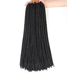 $enCountryForm.capitalKeyWord Australia - Faux Locs Crochet Hair Black Dreadlocks Synthetic Crochet Braid Hair Havana Mambo Faux Locs Weaving 18 inch