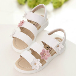 Flower Girl Baby Shoe Australia - Promotion Style Children's Summer Sandals Princess Beautiful Flower Girls Shoes Children Shoes Baby Girls Roman Sandals
