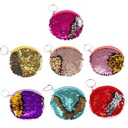 $enCountryForm.capitalKeyWord Australia - Mermaid Sequin Coin Purses Fashion Cute Mini For Women Ladies Girls Key Ring Zipper Earphones Storage Bag Wallet Brand New Bags