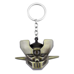 China Japan Hot Comics Anime Mazinger Z Devil Z Keychain Souvenir Men Armor Universal Keyboard Keychain Ring Car Accessories Chaveiros suppliers