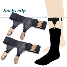 Apparel Accessories Men's Suspenders 2pcs Men Adjustable Sock Stays Braces Sexy Garters Suspenders With Double Clips Leg Elastic Harness Garter Belt Stockings Holder