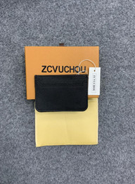 HigH end boxes online shopping - High end quality hot sale fashion designer new arrival men card holder color women credit card purse wallet holders with box dust bag
