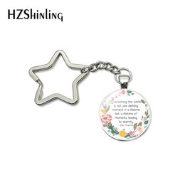 $enCountryForm.capitalKeyWord Australia - New Fashion Wisement Quotes Inspiration Words Star Keychain for Man Women Gifts Key Chain Ring Holder Key Fob Jewelry