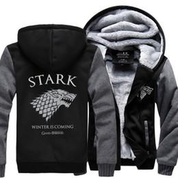 $enCountryForm.capitalKeyWord Australia - 2018 Winter Fleece Thicken Sweatshirt Men Brand High Quality Jackets Coat Men's Sweatshirt Game of Thrones House Stark Hot Hoody