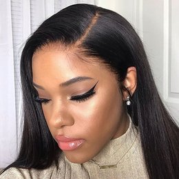 black human hair full lace wigs Australia - Straight Lace Front Human Hair Wigs for Black Women Short Brazilian Transparent Frontal Bob Long Remy Wig 180 Density Hd Full
