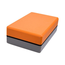 block orange NZ - EVA Dual Color Yoga Block Colorful Foam Block Brick Exercise Fitness Tool Exercise Stretching Aid Body Shaping Health Training
