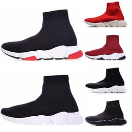 Designer Speed Trainer casual Boots black white blue Flat Fashion Socks Boots men women hot Sneakers Trainers Runner Boots size 36-45 from wholesale new summer high boots suppliers