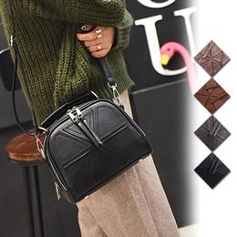 Large Blocks NZ - Fashion Women Handbag Solid Color Leather Splice Block Zipped Messenger Bag Ladies Shoulder Bags For Travel Shopping Fab