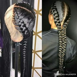 Glueless Wig Braids For Australia - Pre Plucked Full Lace Human Hair Wigs With Baby Hair Straight Brazilian Wig Braided Glueless Full Lace Wigs For Women Remy