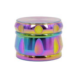 Wholesale drum machine online – design Zinc alloy four layer iridescent drum type chamfered grinding machine