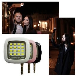 mini portable spotlights Canada - Mini RK05 Portable 16 LEDs Spotlight smartphones led flash fill light for iPhone&Android Devices,External Flash Fill Light Selfie flash lamp